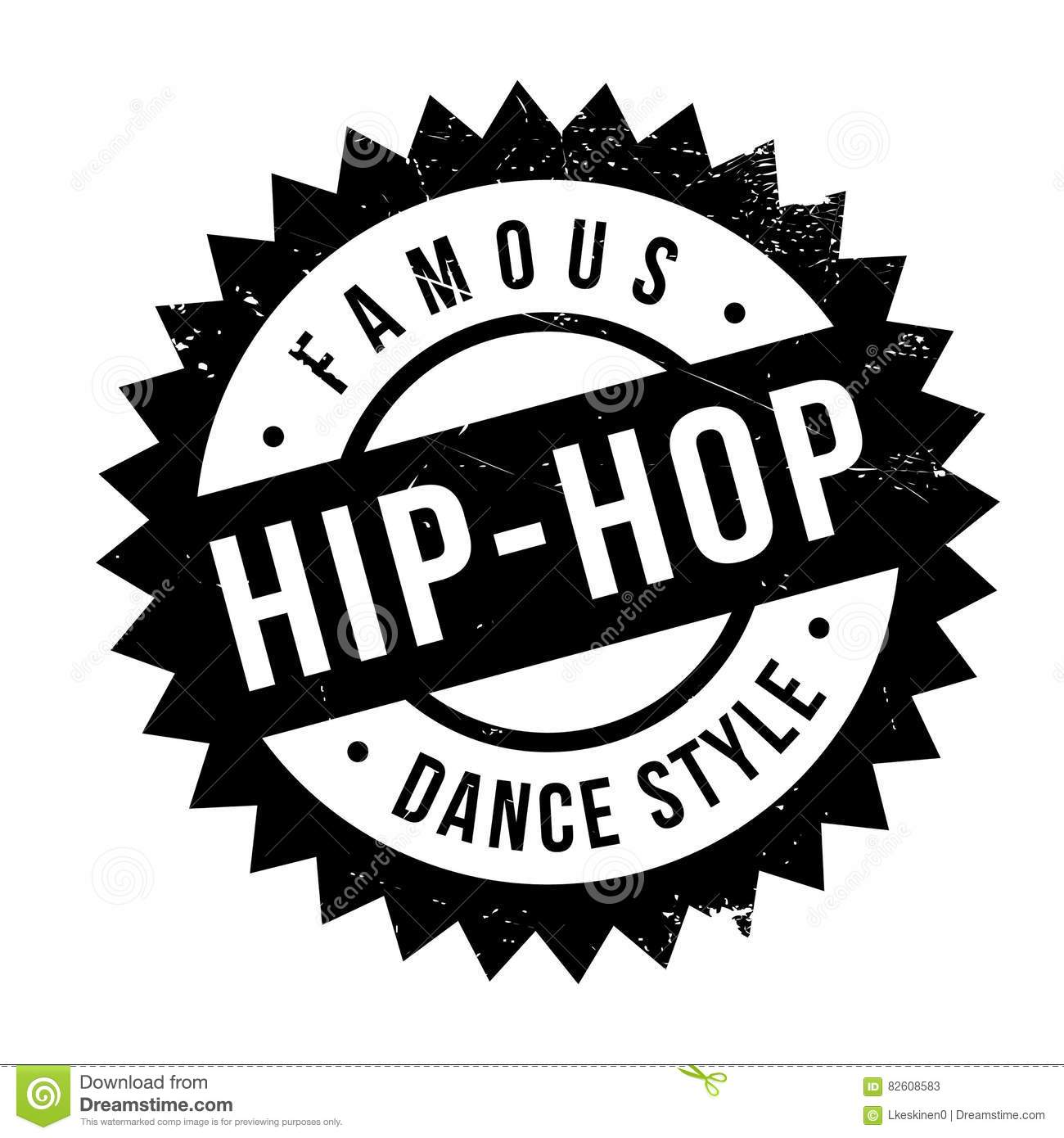 Famous Dance Style, Hip-Hop Stamp Stock Vector - Illustration of