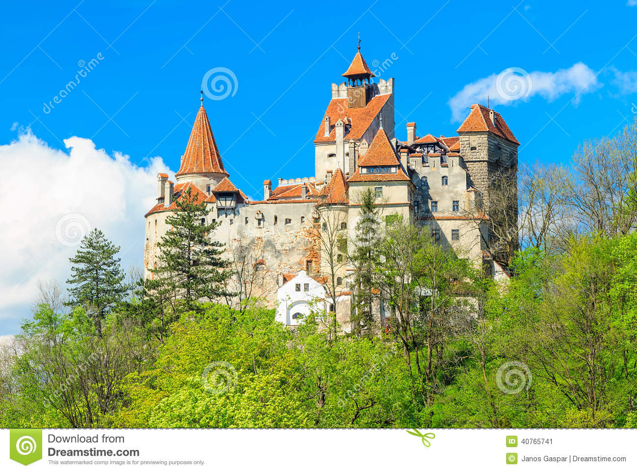 Download The Famous Dracula Castle,Bran,Transylvania,Romania Stock Image - Image of ancient, construction: 40765741