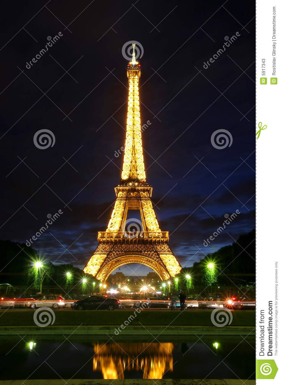 Famous eiffel tower with illumination on in paris editorial stock photo im - Illumination a paris ...