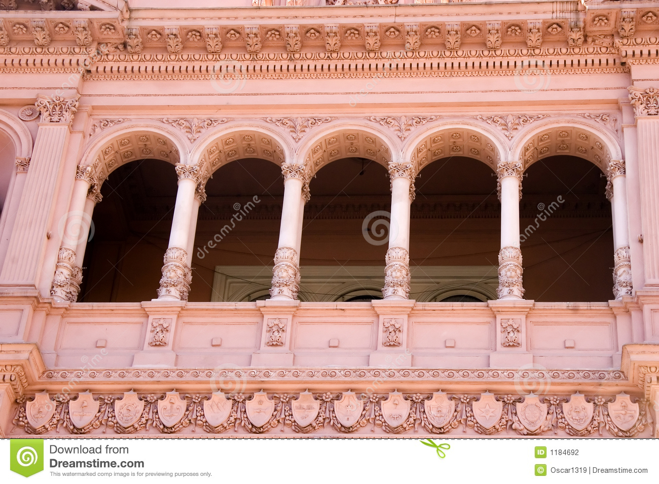 Famous evita balcony buenos aires stock photography for Famous balcony
