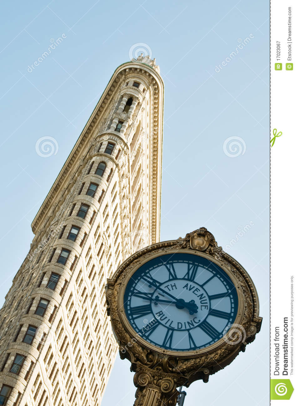 Famous flatiron building in New York City