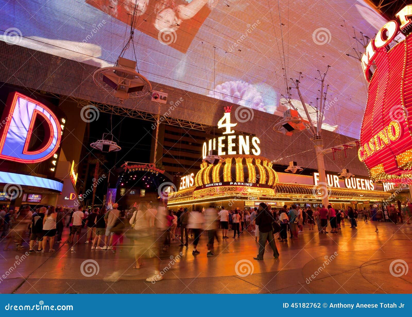 Famous Fremont Street Nightlife In Las Vegas Navada
