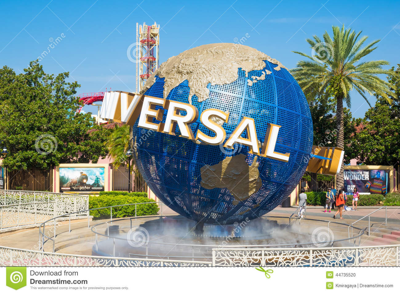 The Famous Globe At The Universal Theme Parks In Florida Editorial Image - Image: 44735520