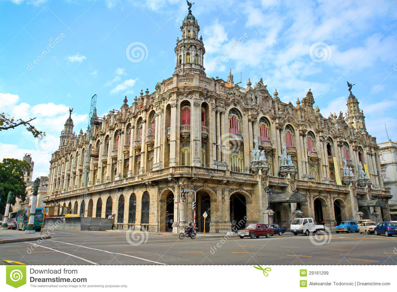 Famous Great Theater Building In Havana Cuba Royalty Free Stock Images Image 29161299