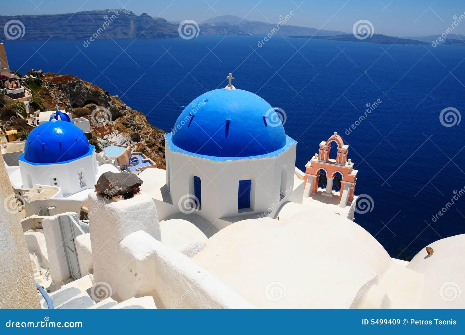 Famous greece island santorini