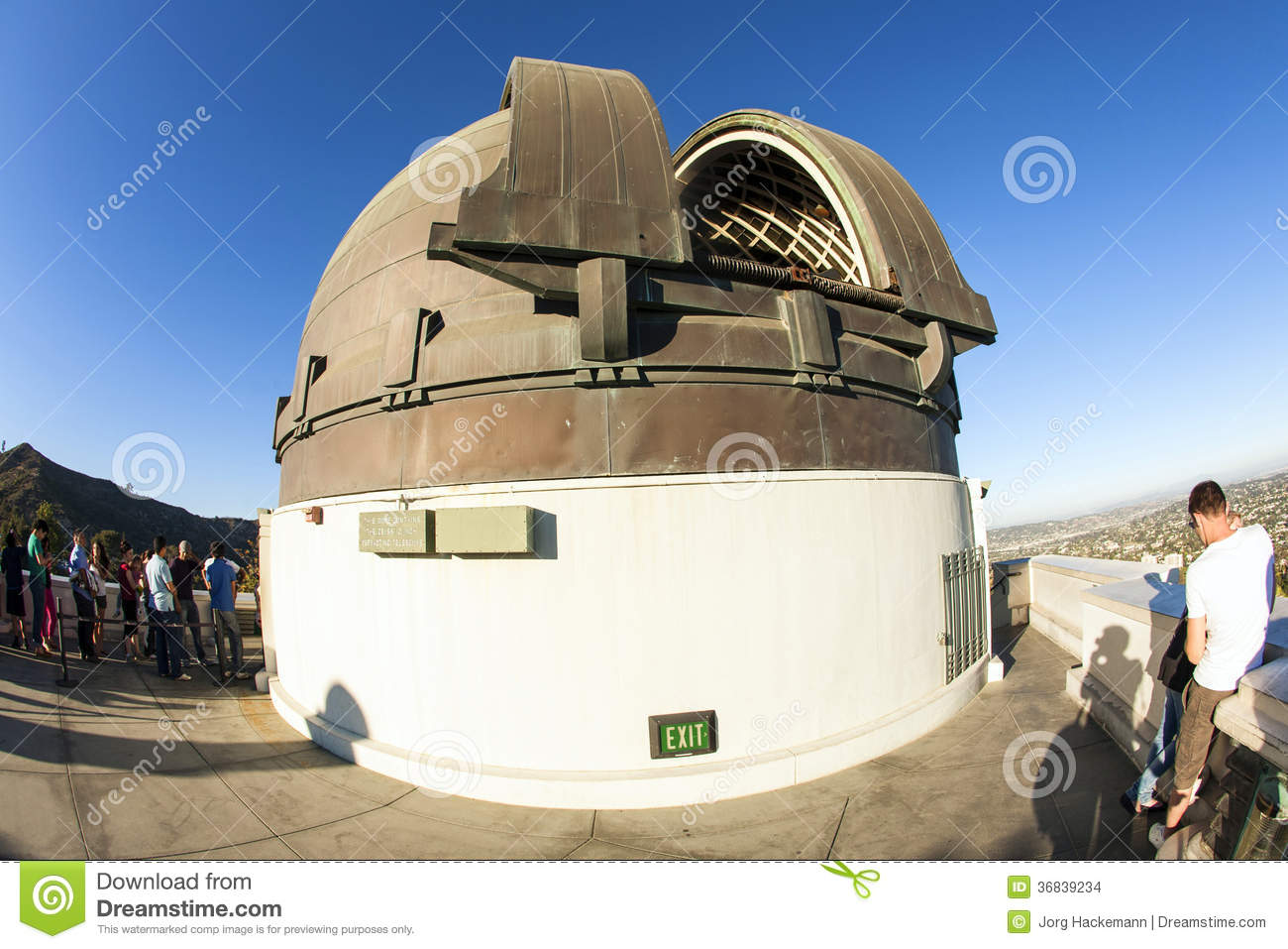 Famous griffith observatory in los editorial stock image for Famous people los angeles