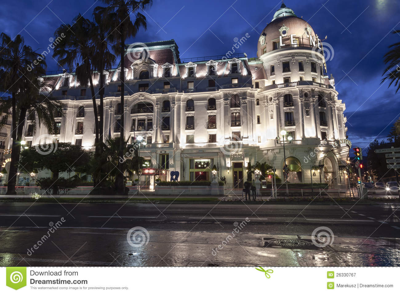 Famous hotel negresco in nice in france editorial for Luxury hotels in nice