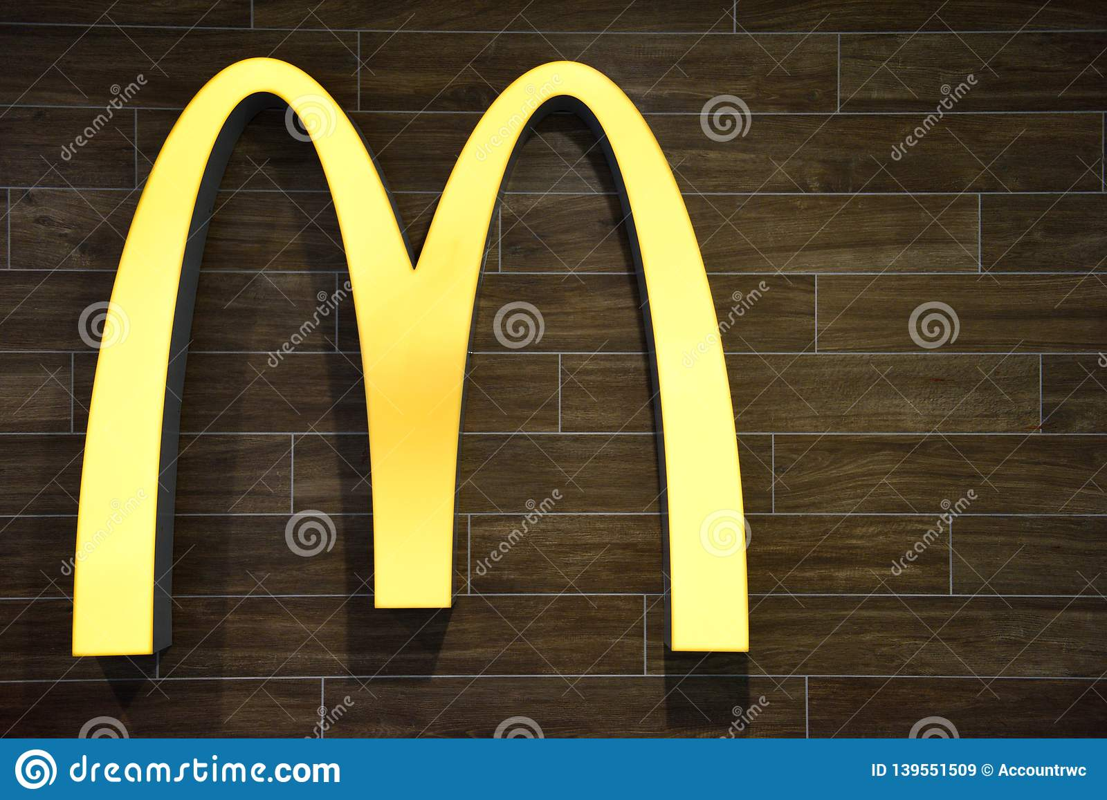 The Famous Iconic McDonald`s Golden Arches Corporate Logo ...