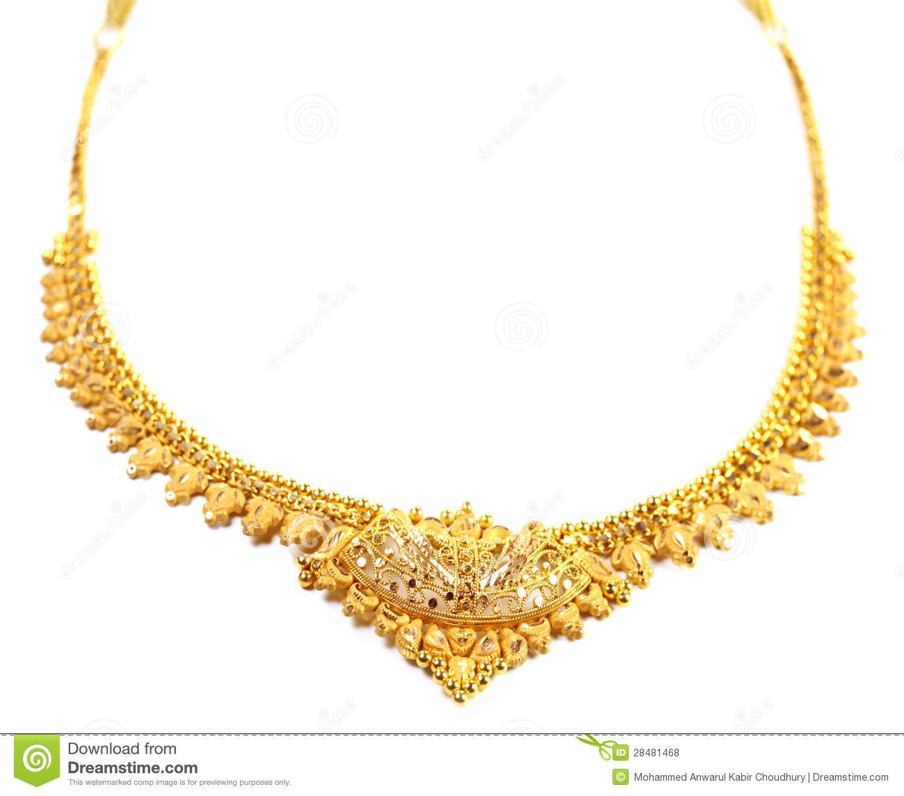 Famous Indian Bridal Necklace Stock Photo - Image of golden, india ...