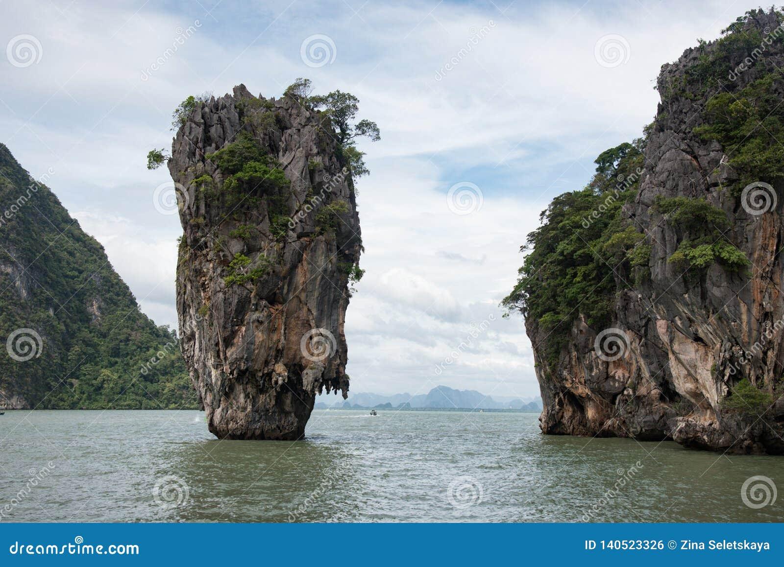 Famous James Bond Island Thailand Stock Photo Image Of