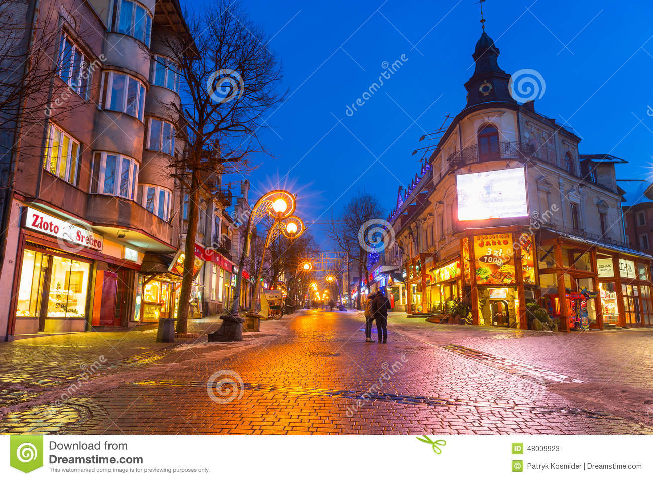 Famous Krupowki Street In Zakopane At Winter Time Editorial Stock Photo Image Of Editorial