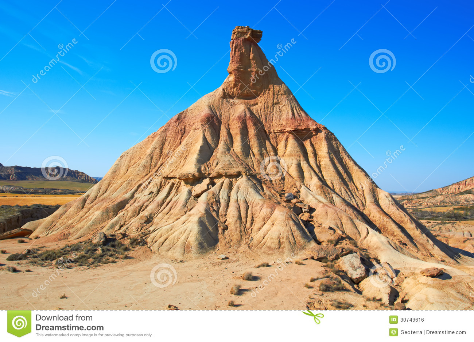 famous landmark of bardenas reales desert royalty free stock image image 30749616. Black Bedroom Furniture Sets. Home Design Ideas
