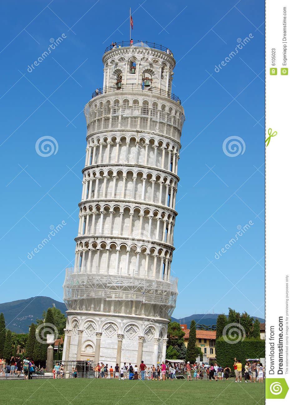 The Famous Leaning Tower In Pisa Stock Photos - Image: 6105023
