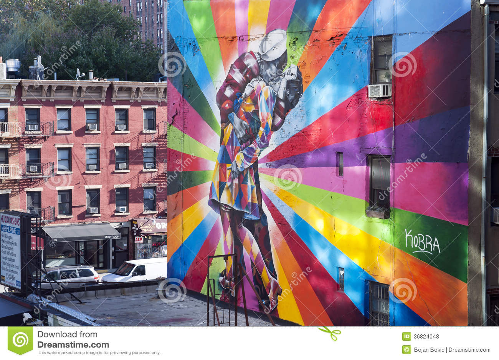 Foto Murales New York.Famous Mural New York City Editorial Stock Photo Image Of