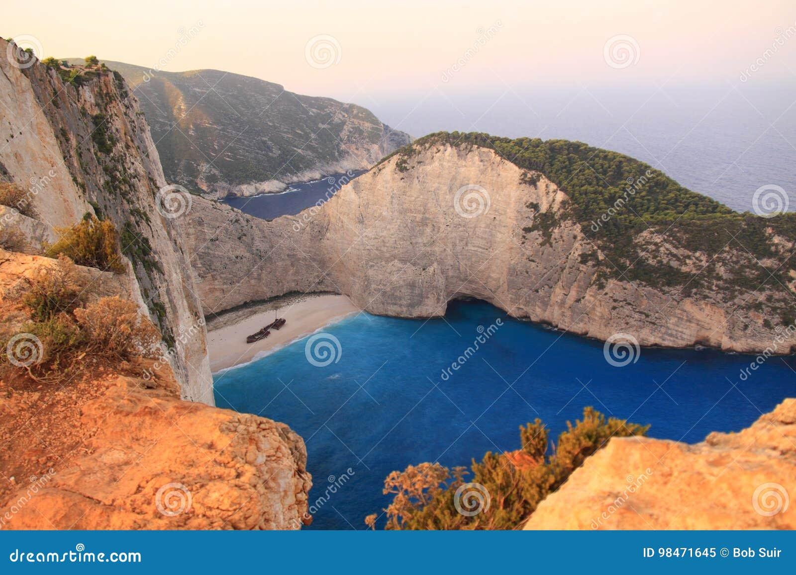 Famous Navagio Beach, Zakynthos, Greece