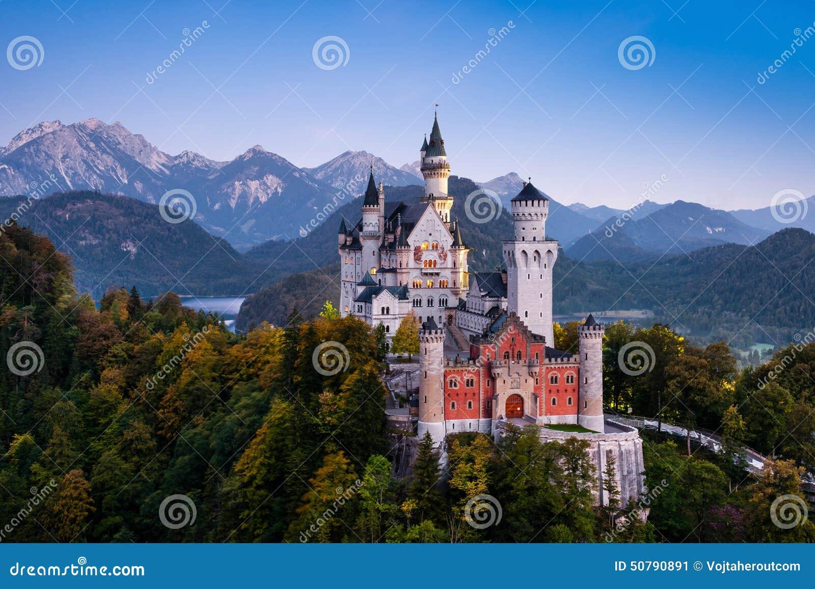 Famous Neuschwanstein Castle in Bavaria, Germany