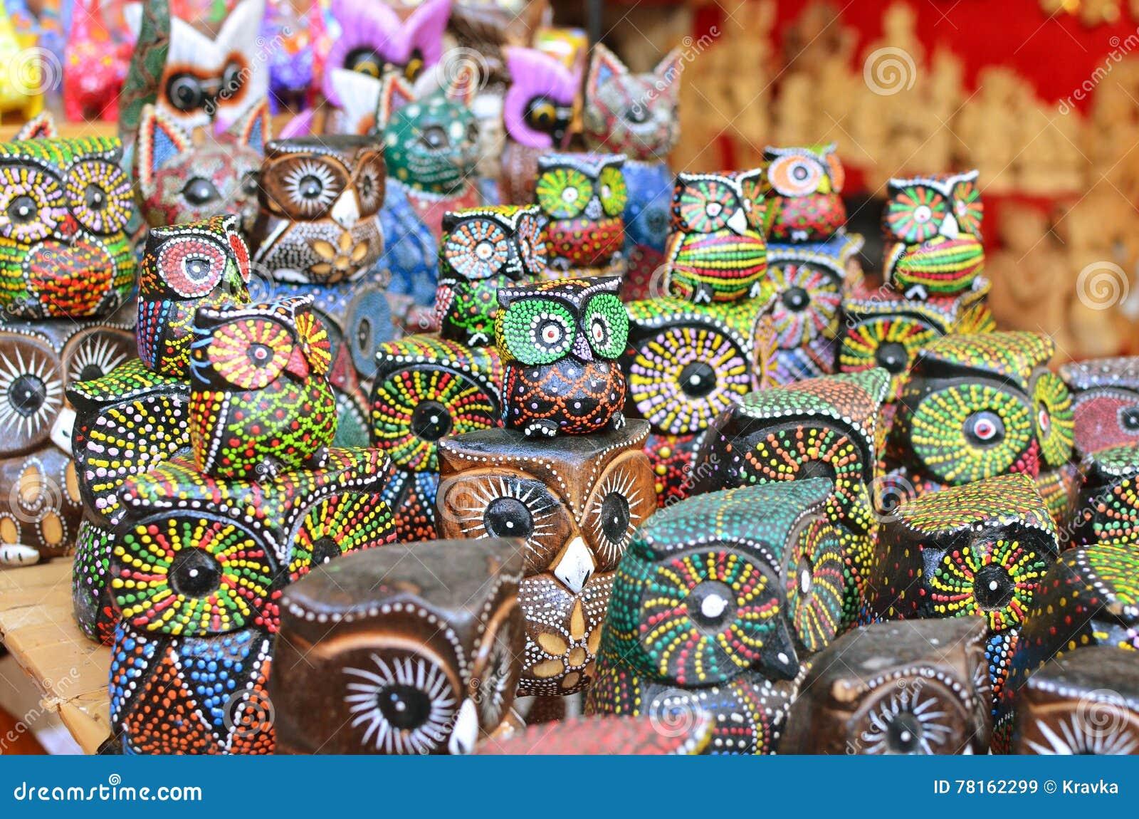 Famous Owl Souvenirs At Ubud Market Stock Image Image Of Asia