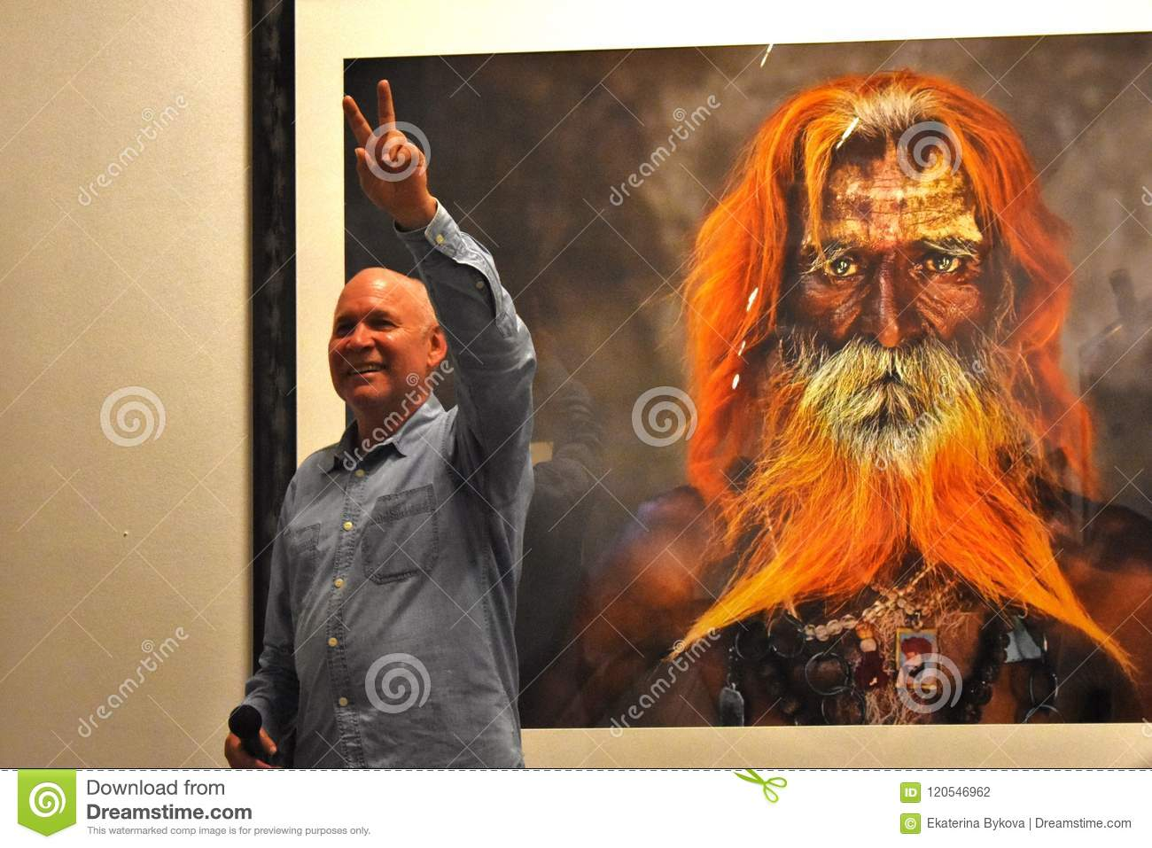 Famous Photographer Steve McCurry Opens His Personal Exhibition In Moscow