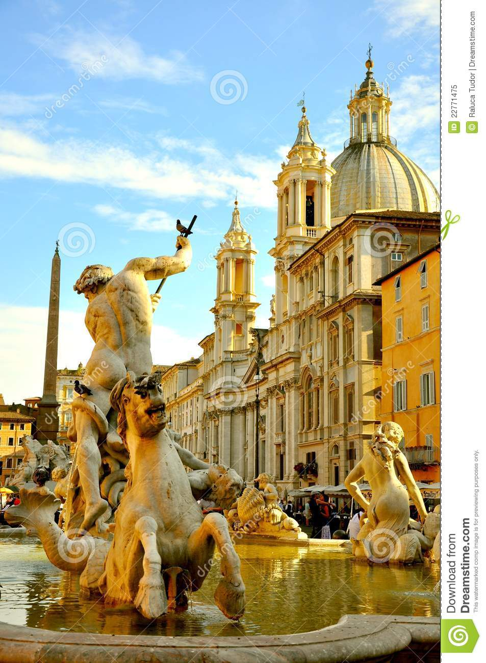 Download The Famous Piazza Navona, Rome, Italy Editorial Image - Image of historic, artist: 22771475