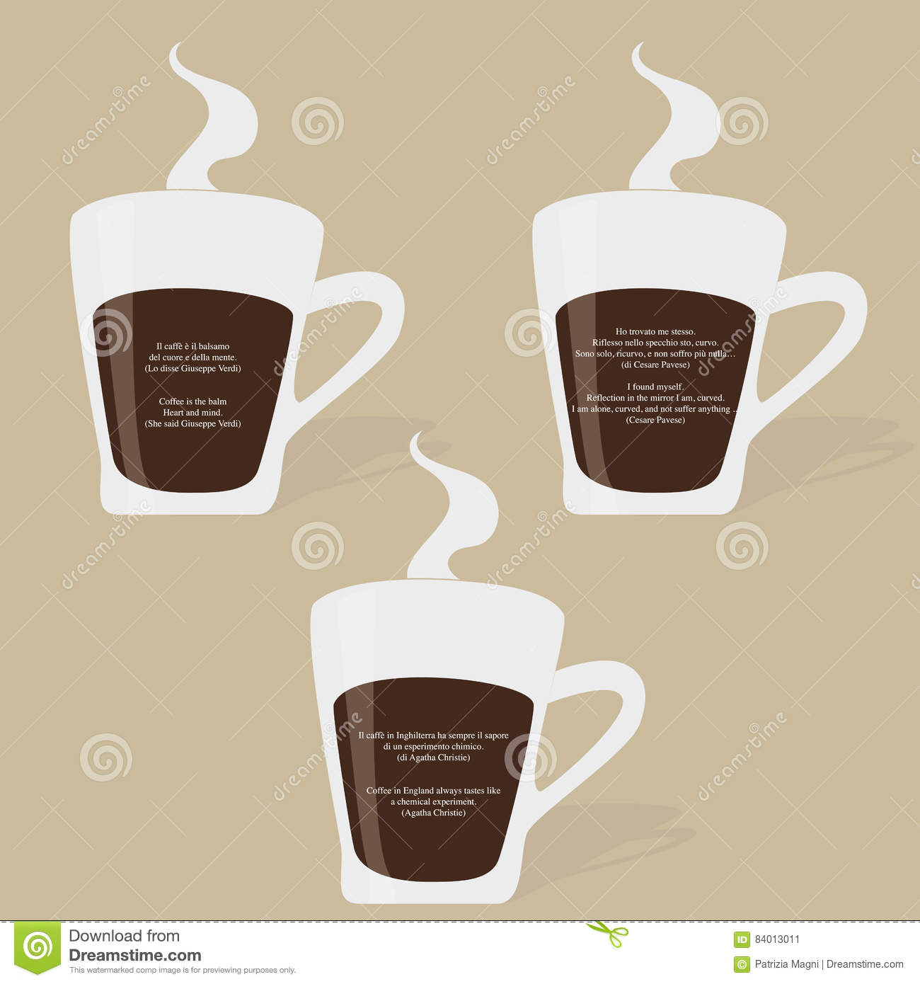 Famous Quotes On Coffee Cup Stock Illustration Illustration Of