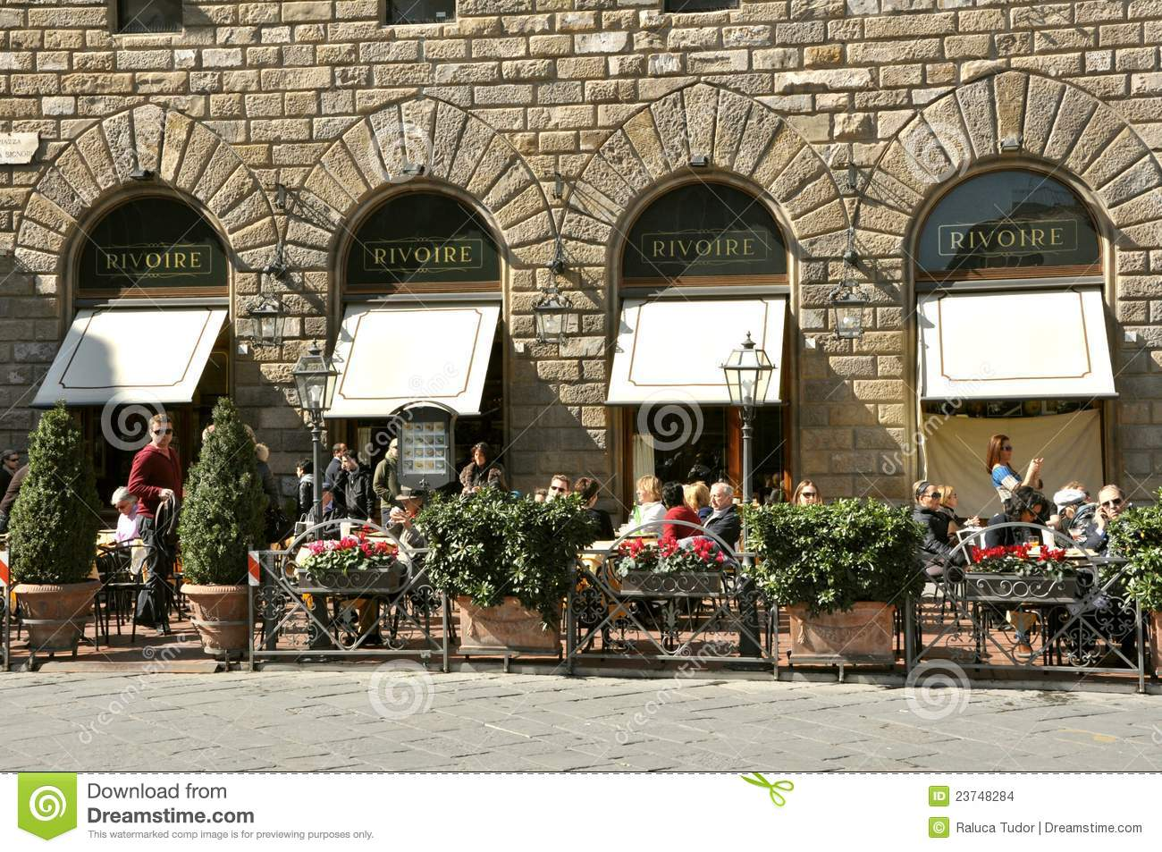 Famous Restaurant In Florence Italy Editorial Stock Image Image
