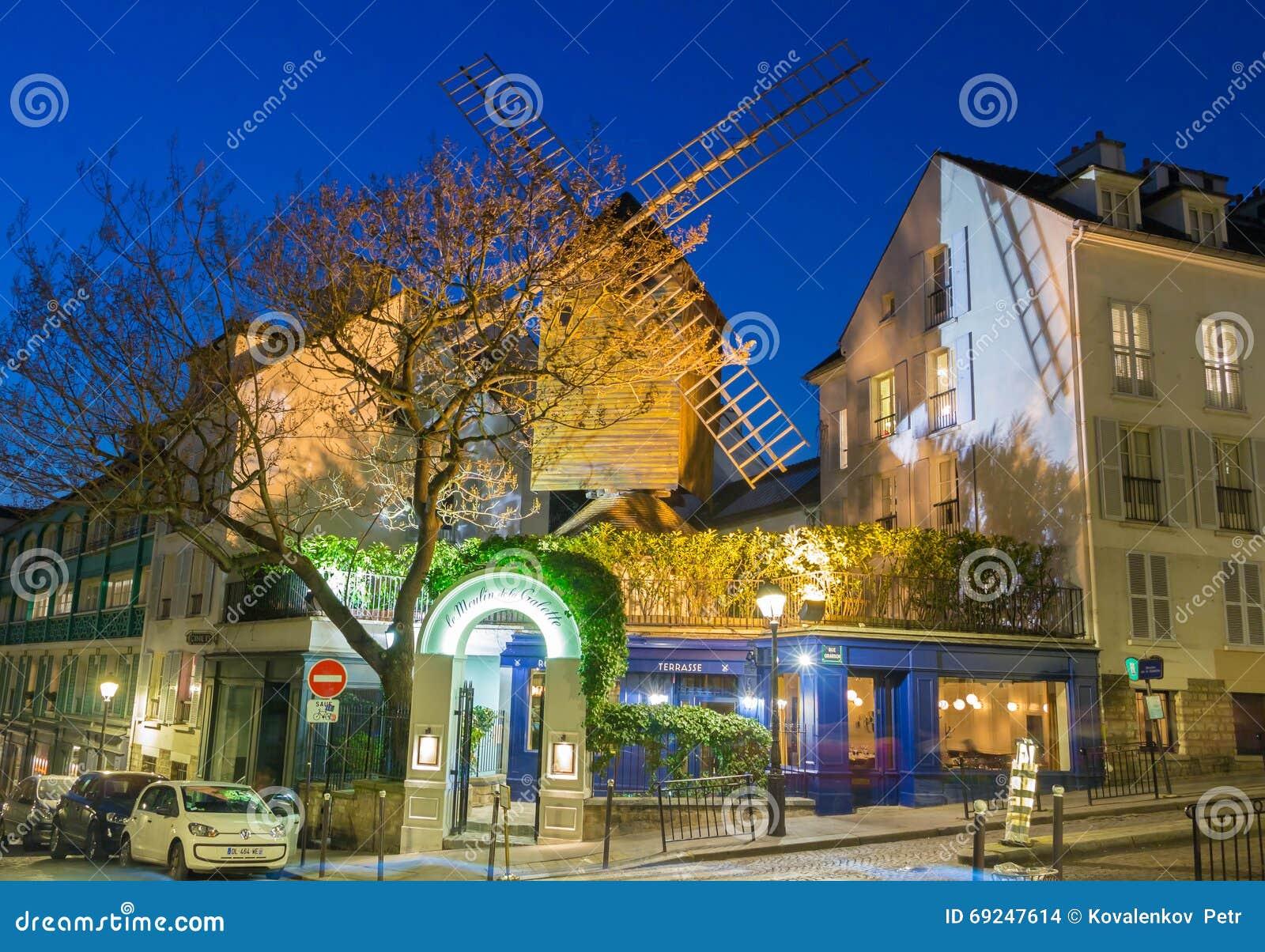 the famous restaurant le moulin de la galette paris france