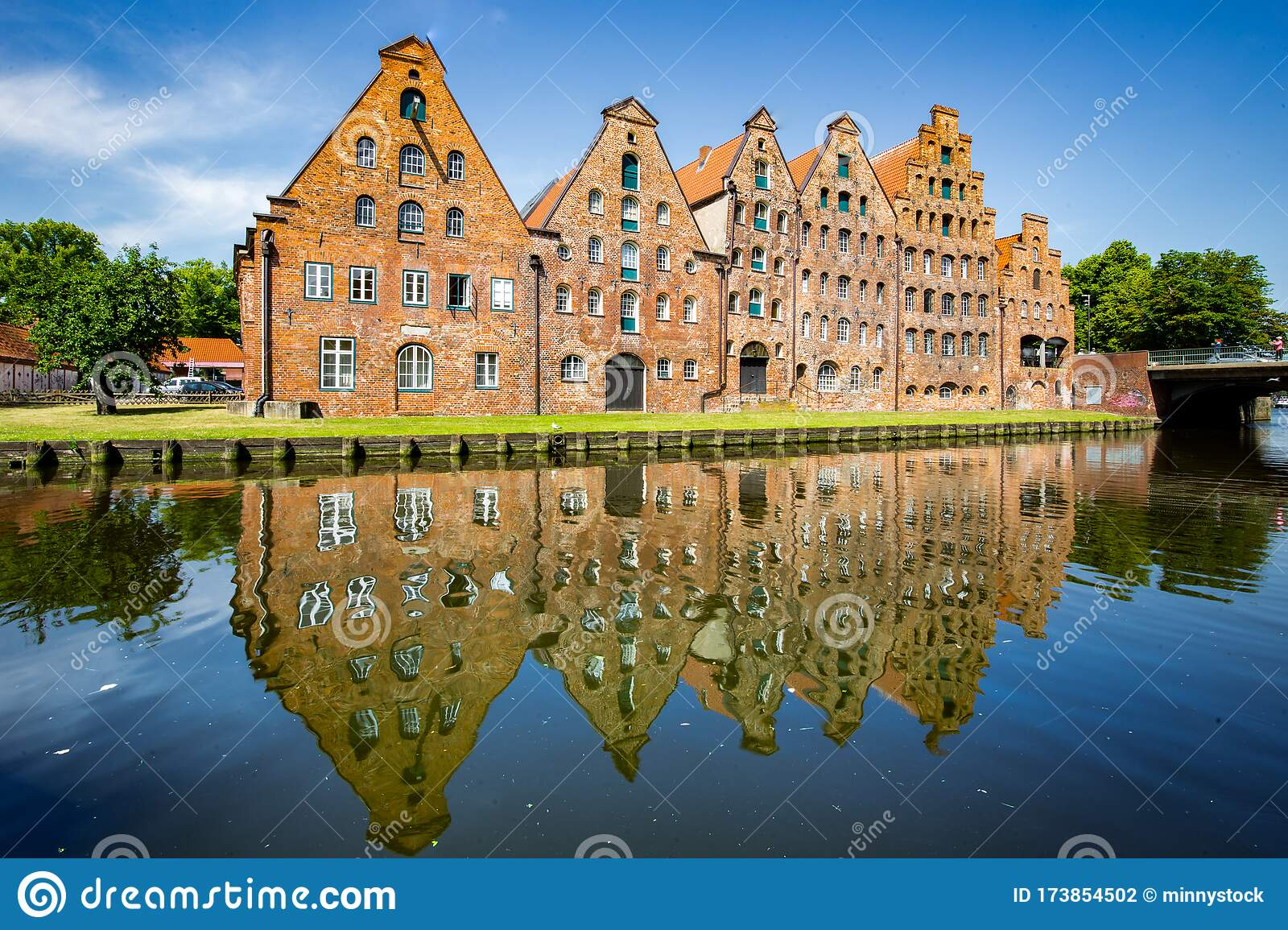 Famous Salzspeicher Brick Houses In Luebeck Schleswig Holstein Germany Stock Photo Image Of Lubeck Nordsee 173854502