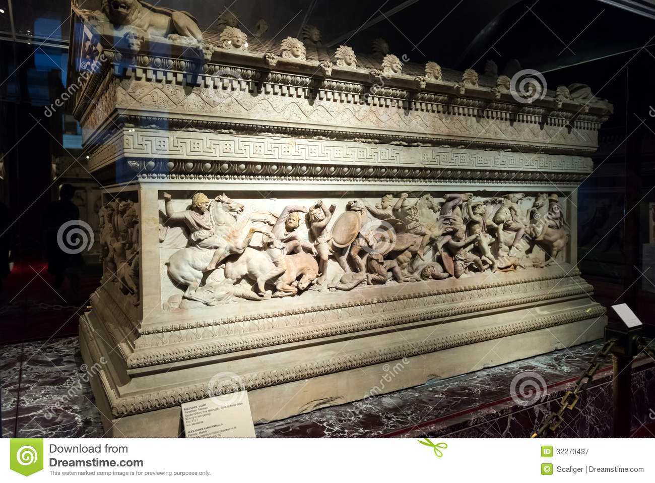 The famous sarcophagus of alexander in istanbul
