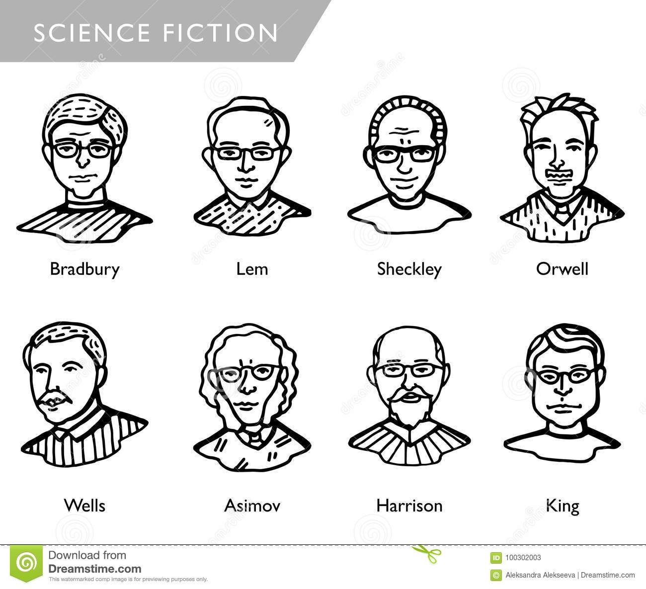 science fiction american authors