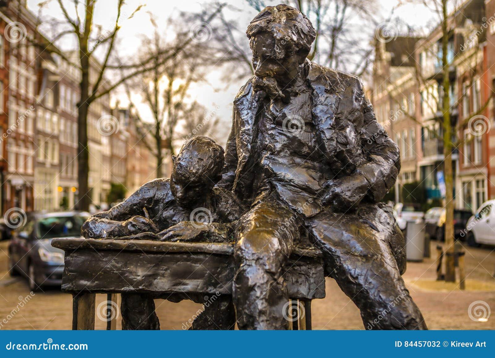 Famous Sculptures Of Amsterdam City Centre  General Landscape View