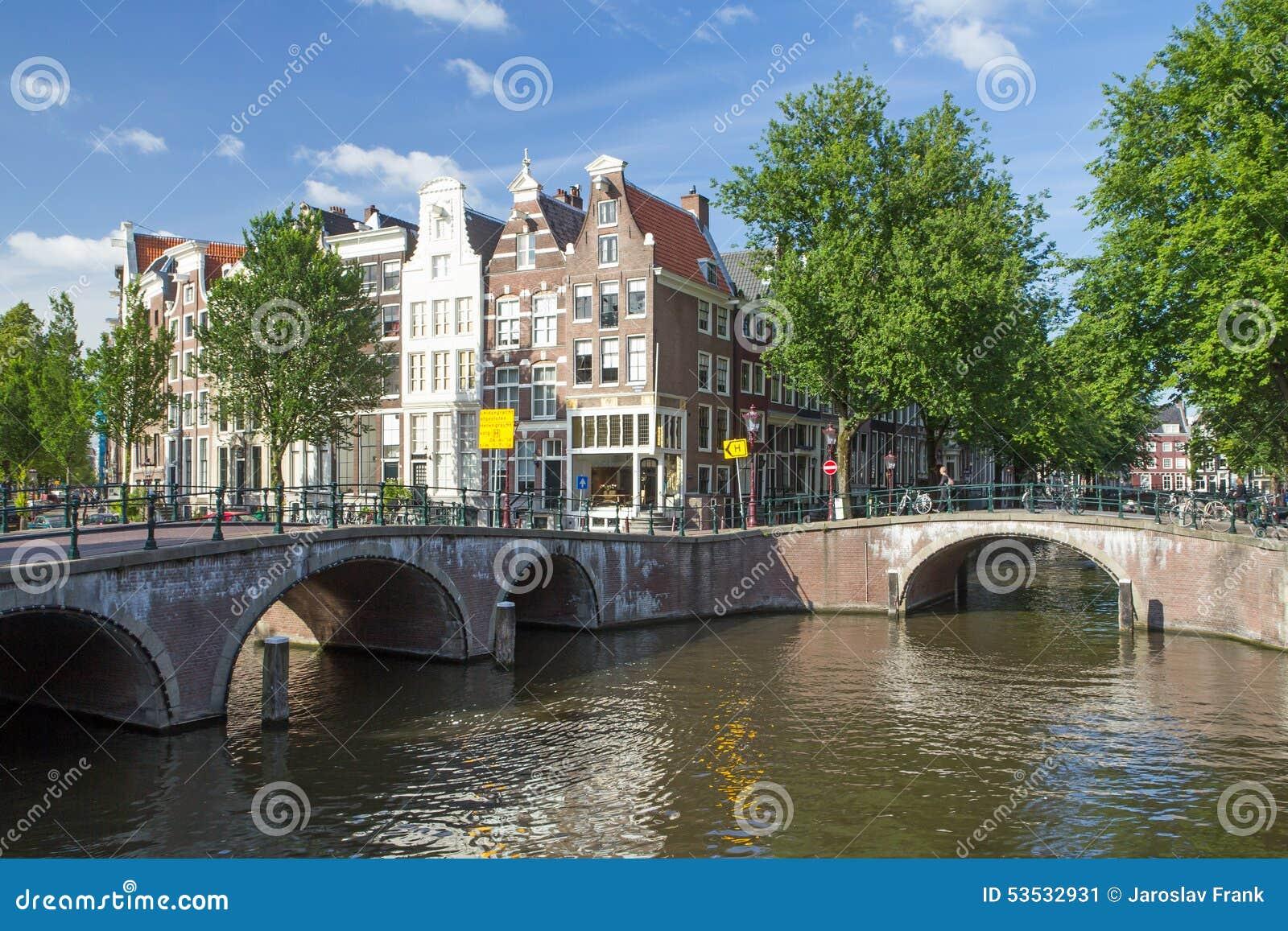 Famous seven bridges in amsterdam editorial photo image for Design bridge amsterdam