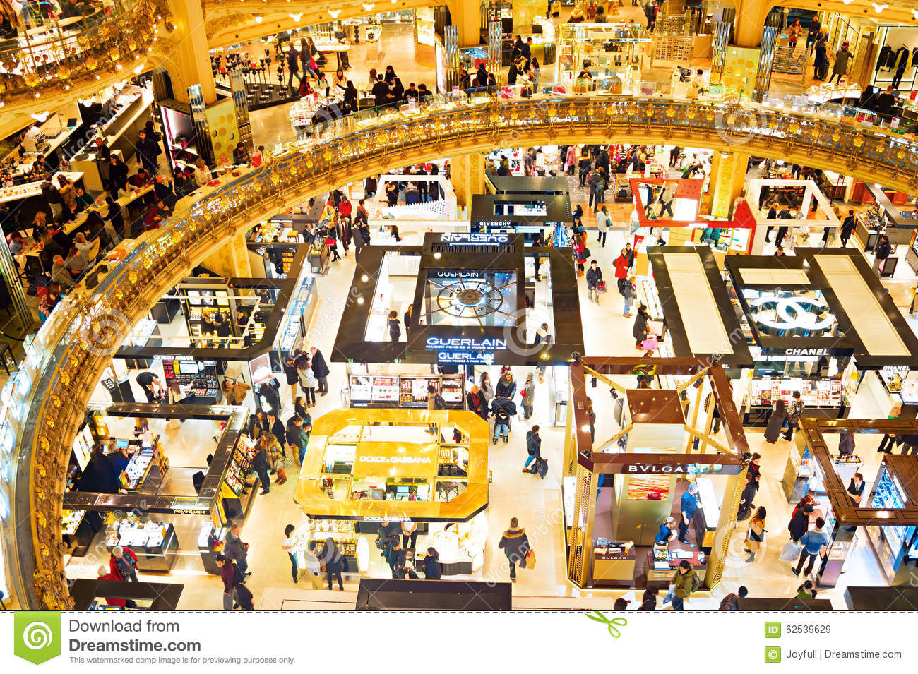 Préférence Famous Shopping Mall, Paris Editorial Stock Image - Image: 62539629 SJ14