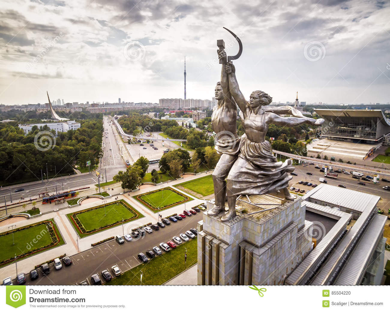 Famous soviet monument Worker and Collective Farmer, Moscow