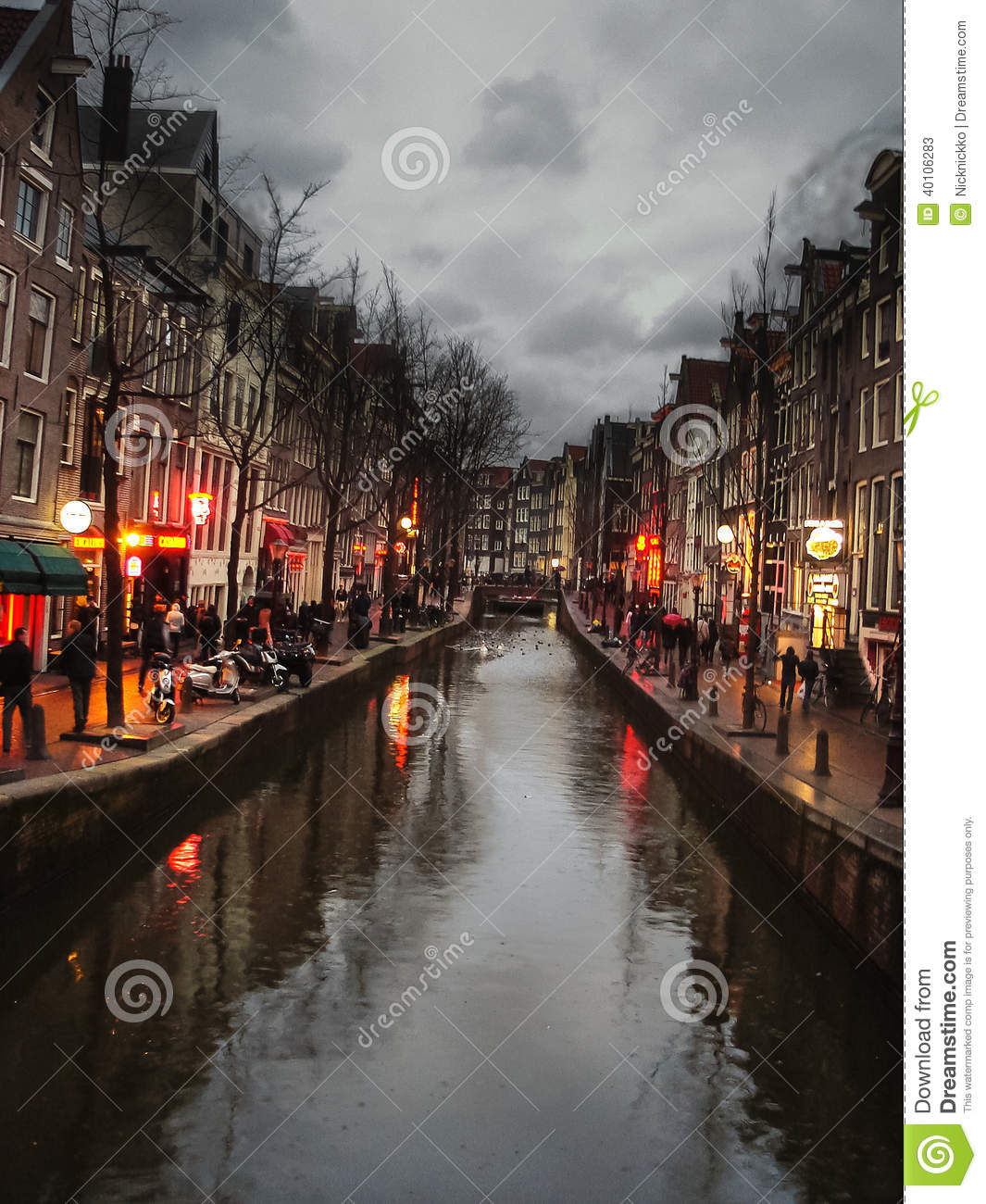 The Famous Street Red Light District In Amsterdam