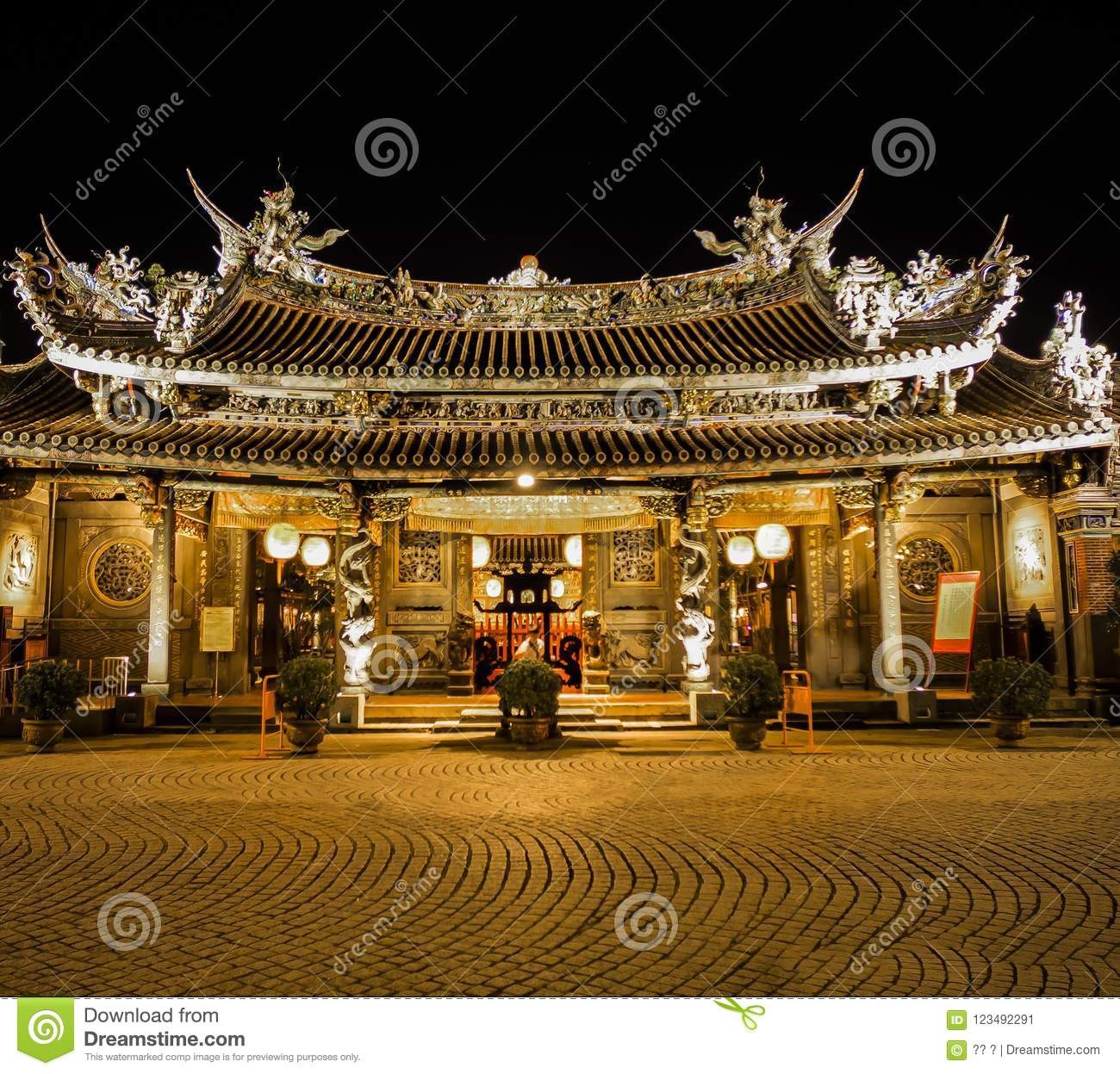 The famous temple of Taiwan
