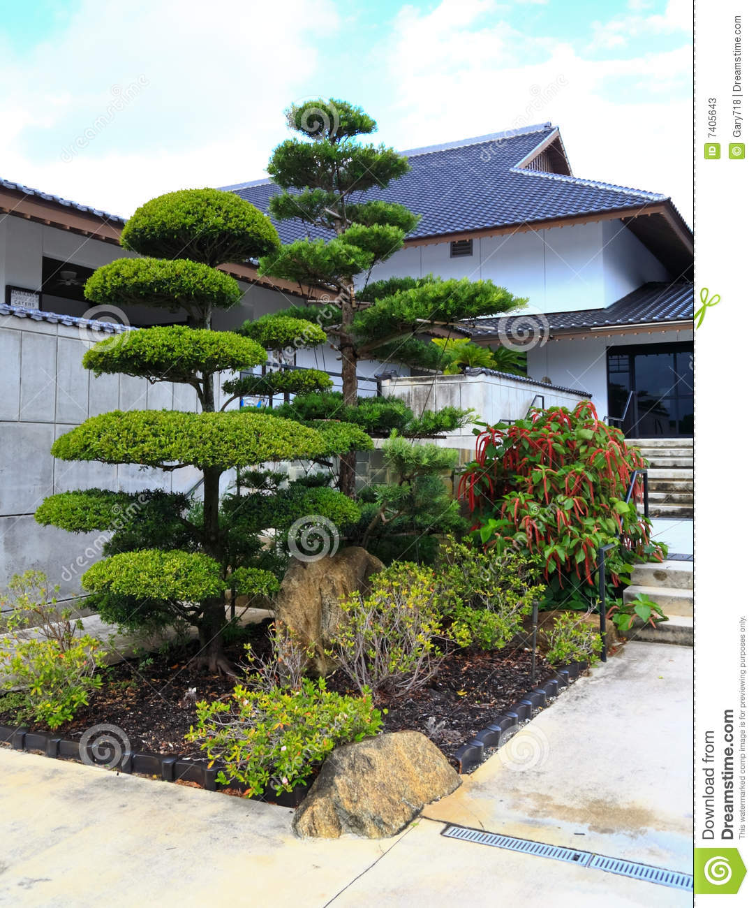 A famous traditional japanese garden stock image image for Traditional japanese garden