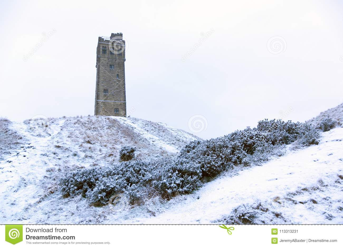 Victora Tower on Castle Hill in Huddersfield, West Yorkshire, England