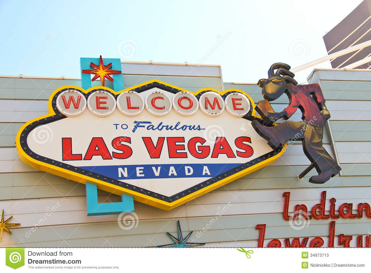the famous welcome to fabulous las vegas sign editorial stock photo image 34973713. Black Bedroom Furniture Sets. Home Design Ideas