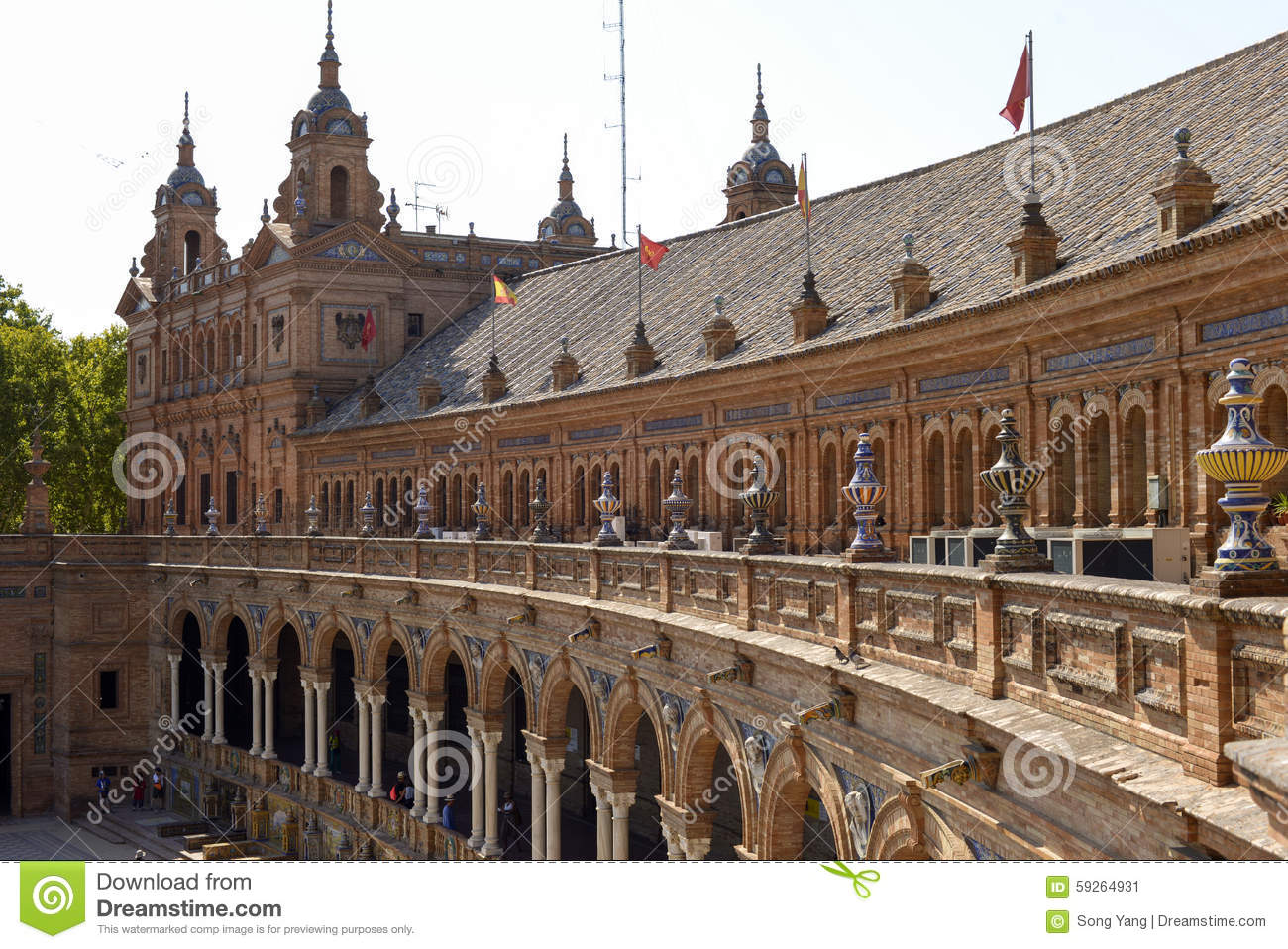 Famouse square of Spain in Seville, Spain