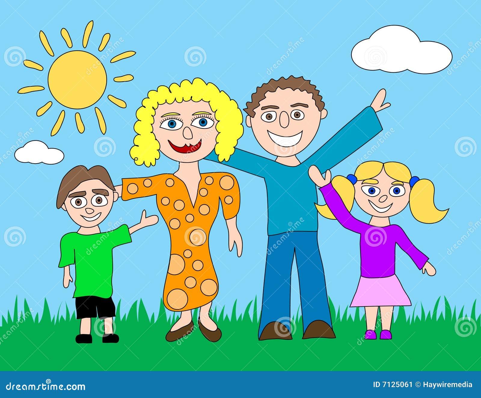 fam u00edlia feliz dos desenhos animados ilustra u00e7 u00e3o do vetor helping others clipart helping others clip art black and white