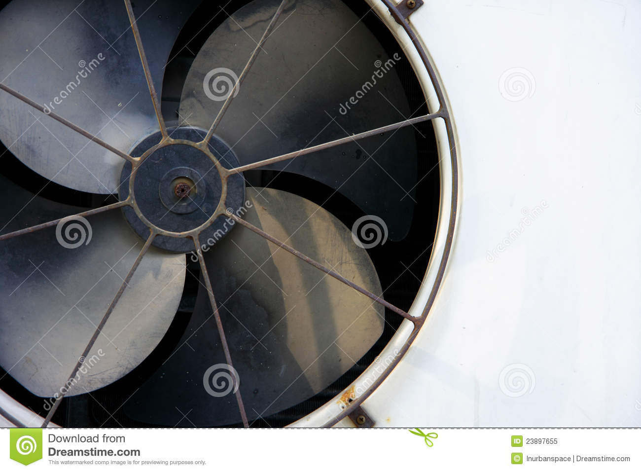 Compressed Air Blades : Fan blade of compressor royalty free stock photo image