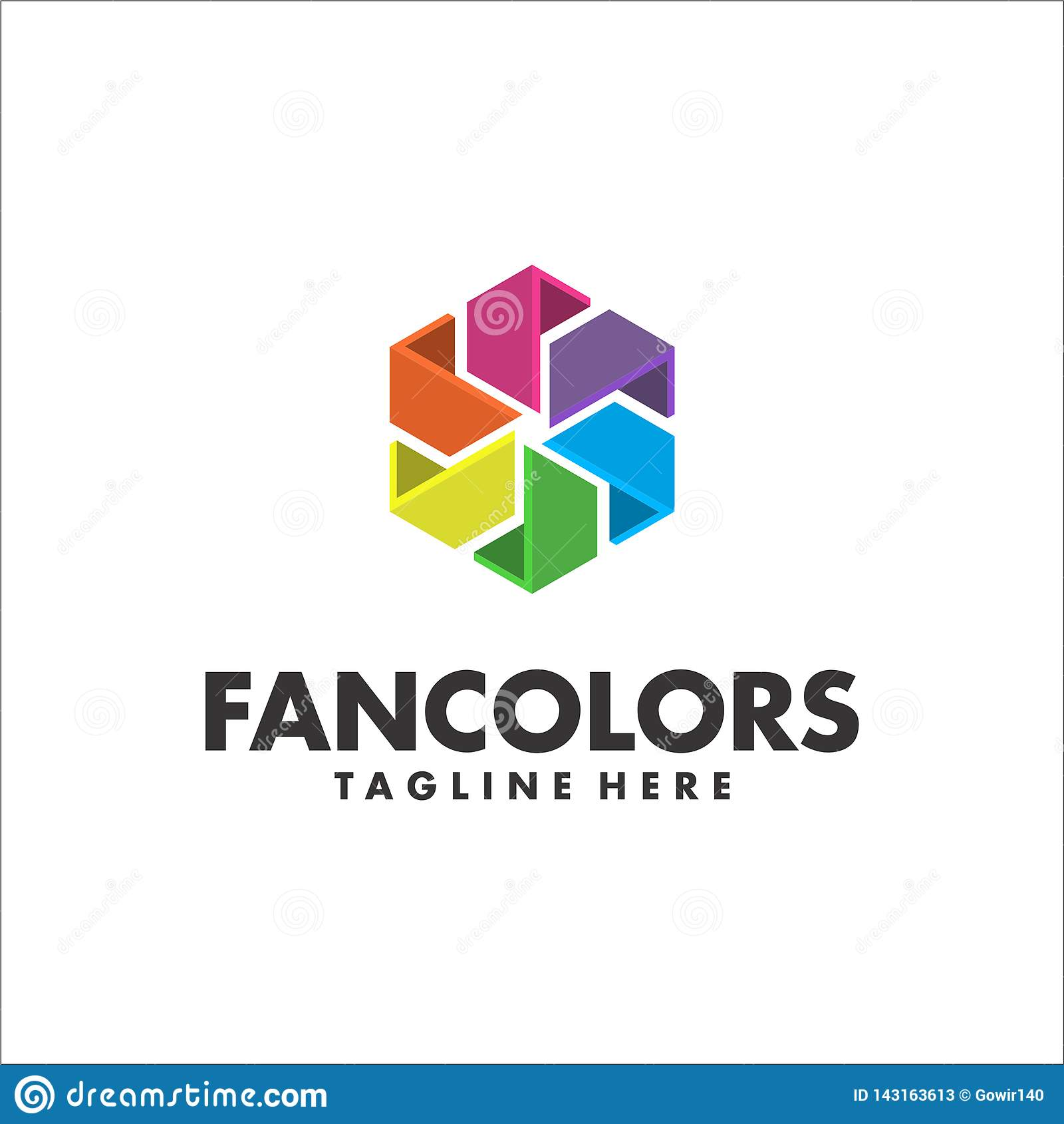 Fan Colors Logo Template Vector Stock Vector Illustration Of Vector Brand 143163613