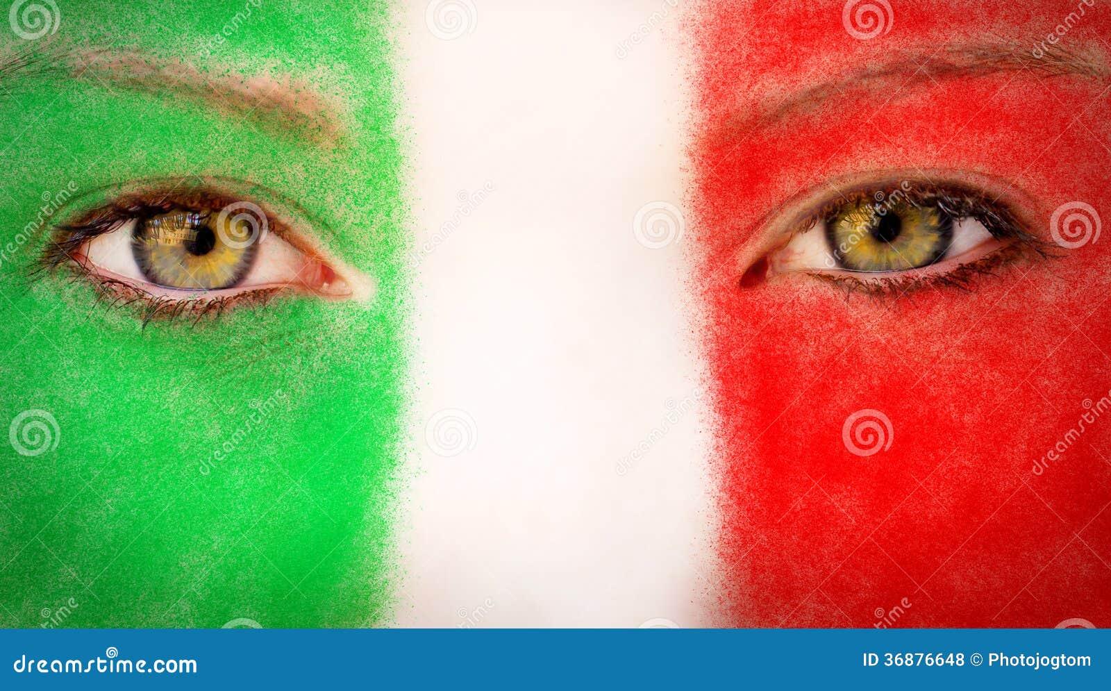 Download Fan dell'Italia fotografia stock. Immagine di ritratto - 36876648