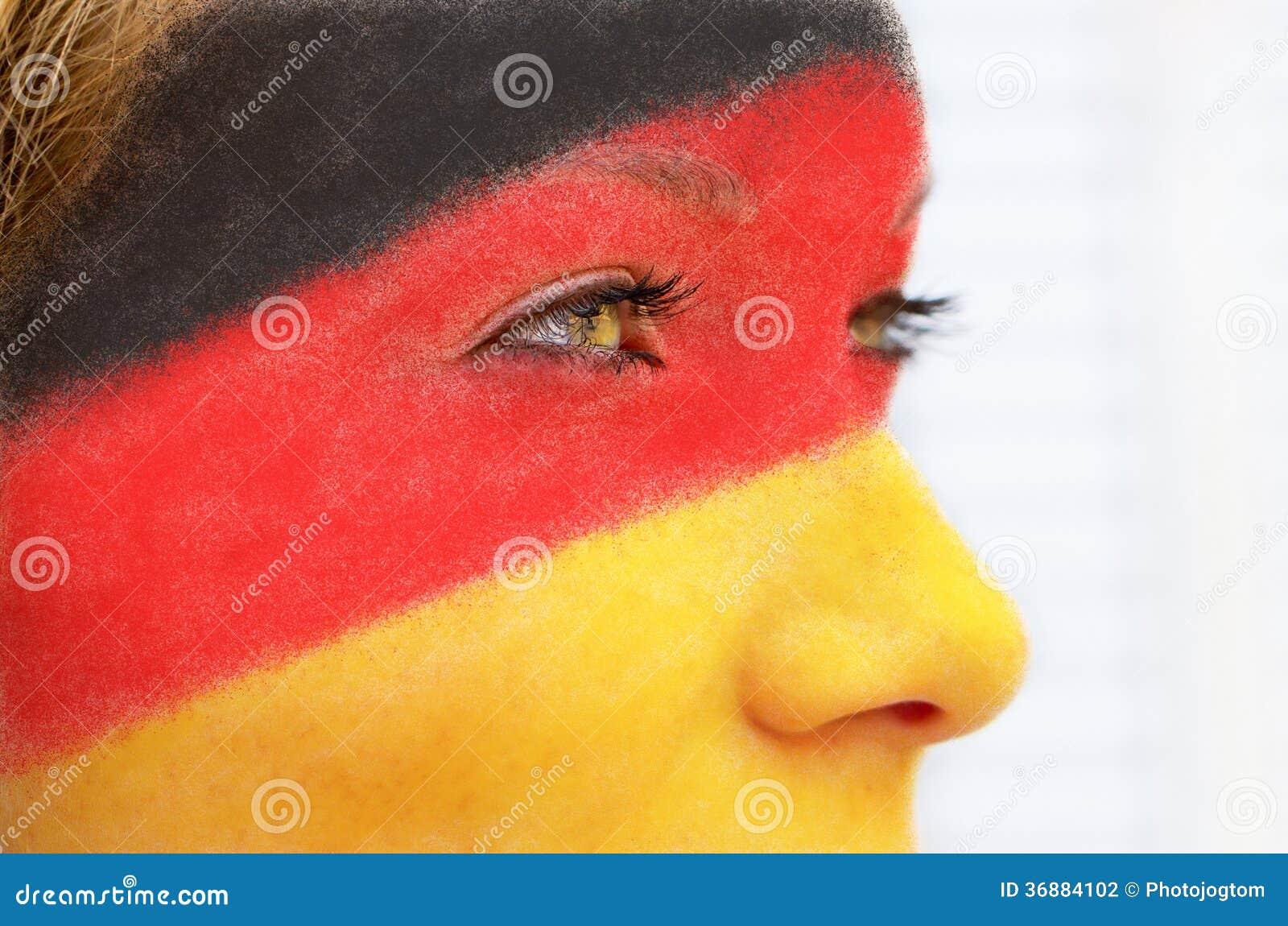 Download Fan di calcio tedesco fotografia stock. Immagine di gioco - 36884102