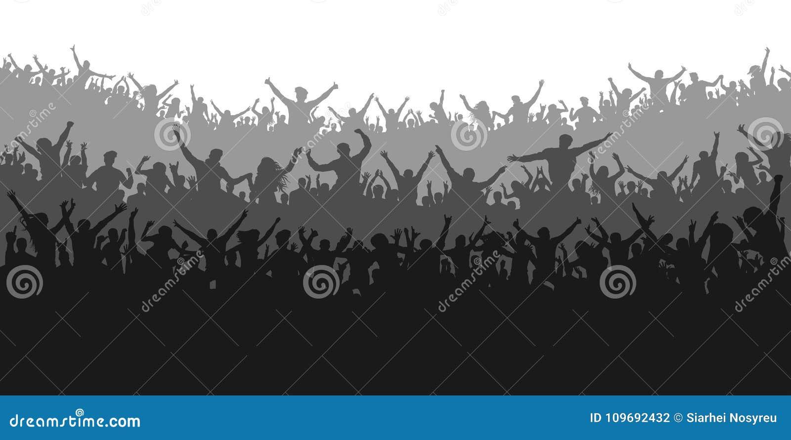 Fan di sport di applauso Concerto incoraggiante della gente della folla, partito