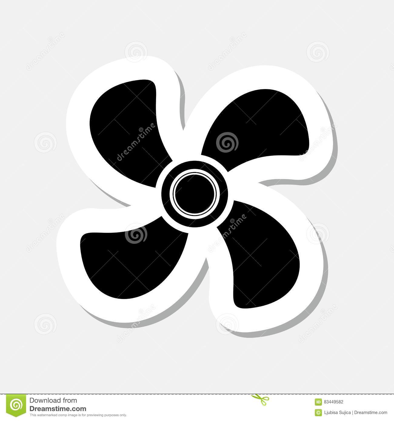 Fan Icon Stock Vector Illustration Of Isolated Electrical 83449582