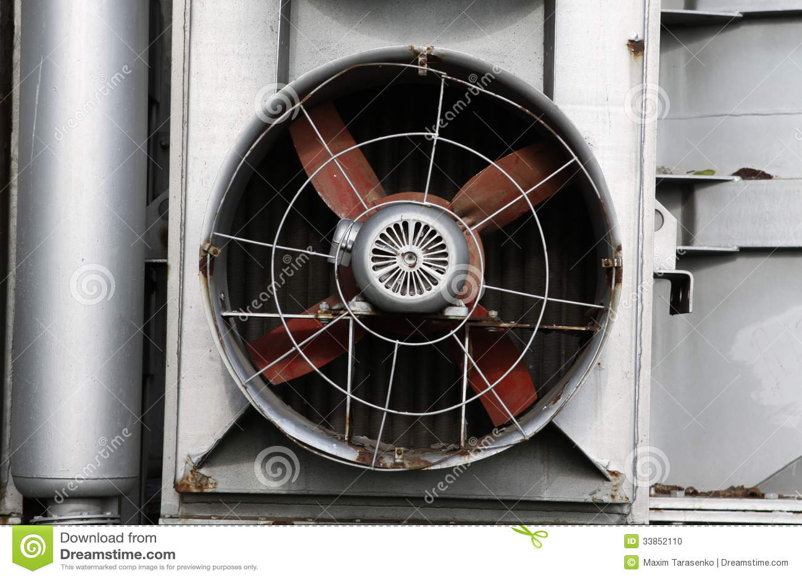 Large industrial fan in the power ventilator. #82A328