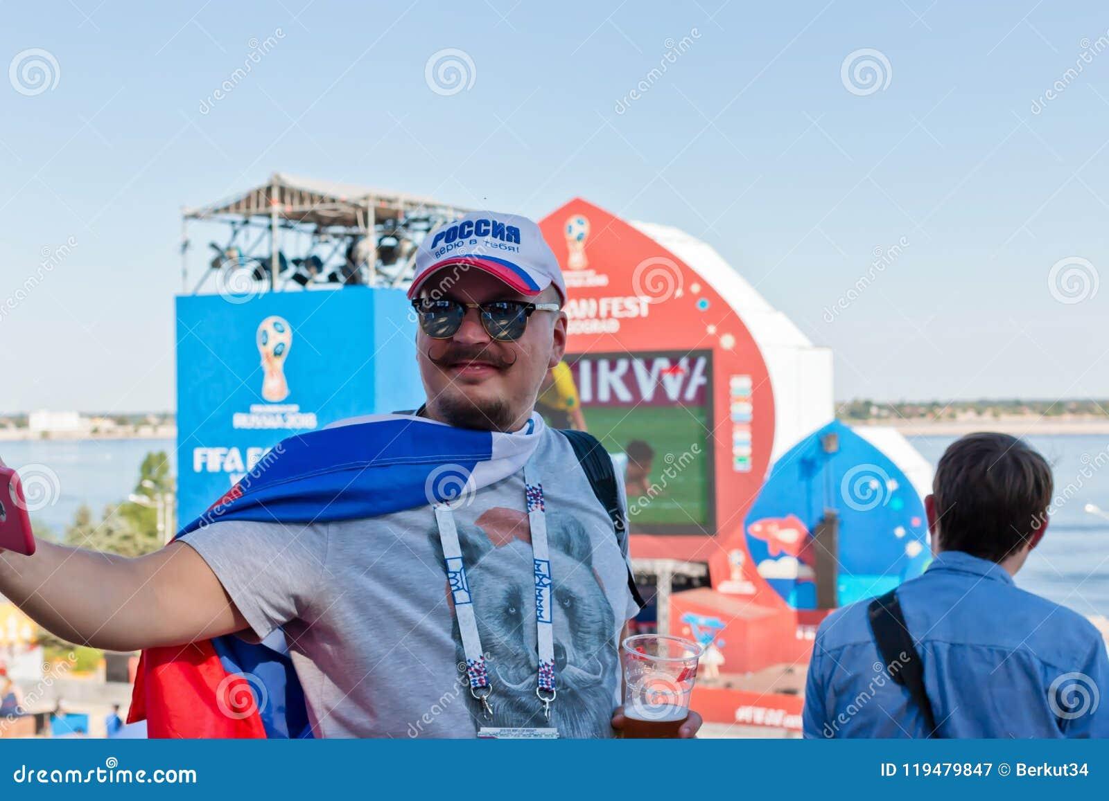 Fan Rosyjski drużyna narodowa. w baseball nakrętce z ins