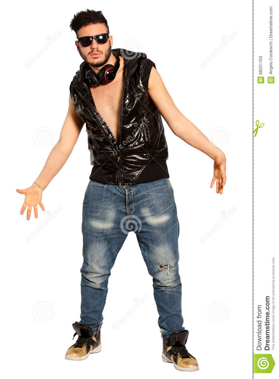 Fanatic Young Man Bully Boy Street Style On White Png