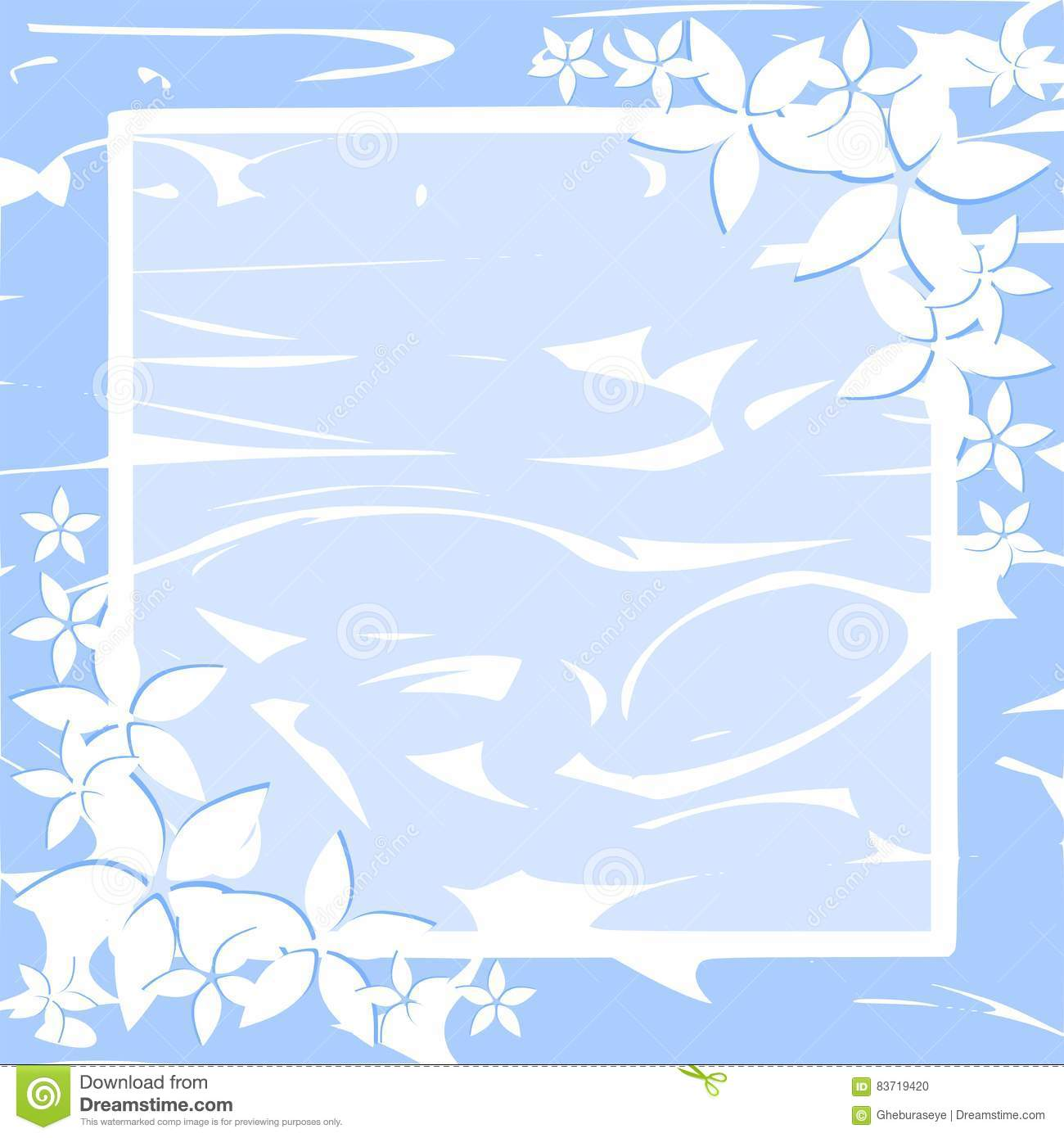 Fanciful Floral Frame With Lively Colors Stock Illustration